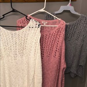 Sweaters - 3 Sweater Bundle